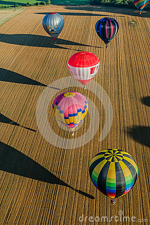 Mondial hot Air Ballon reunion in Lorraine France Editorial Stock Photo