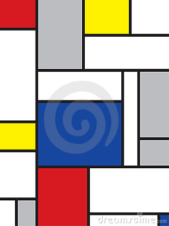 Free Mondrian Inspired Art Royalty Free Stock Photo - 3449225