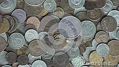 Monedas de Unión Soviética almacen de video