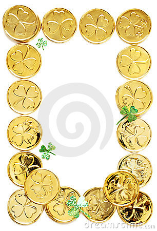 Monedas del día de los patricks del St