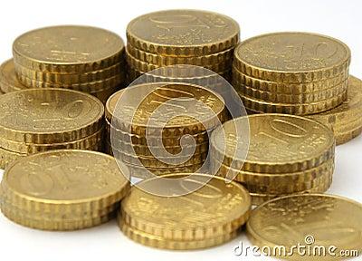 Monedas europeas del dinero en circulación