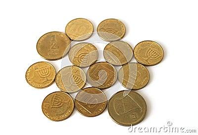 Monedas israelíes del cambio