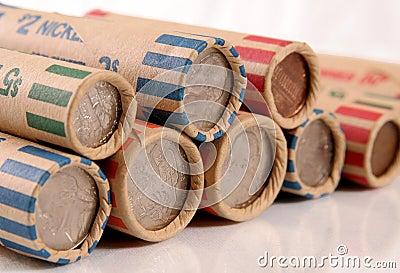 Monedas rodadas de los E.E.U.U.