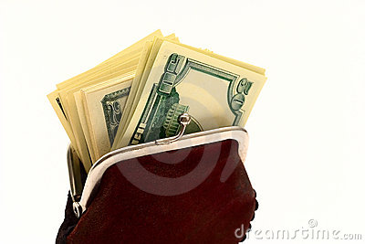 Monedero por completo de dólares