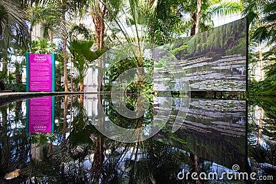 Monet's Garden Exhibit Editorial Stock Image