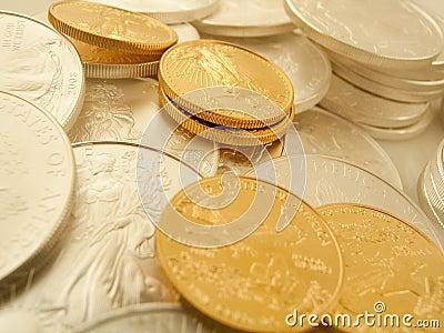 Monet złota srebro