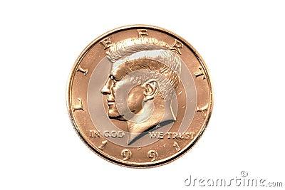 Moneta del dollaro mezzo