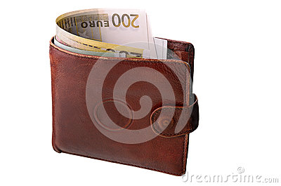 Monetary denominations in a purse
