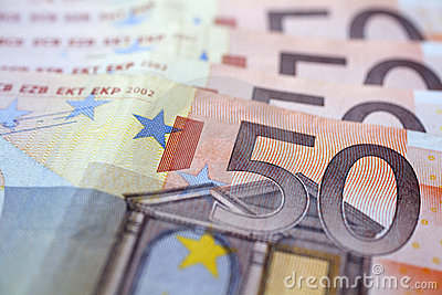 Money - 50 euro banknotes