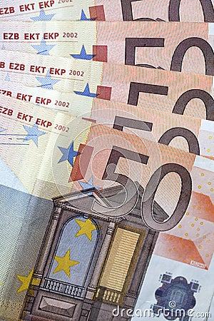 Money - 50 euro banknotes