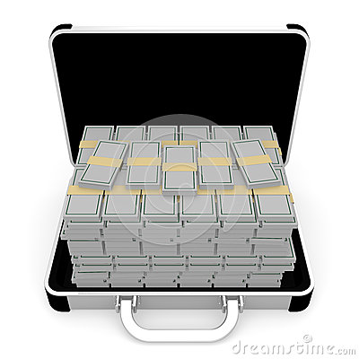 Money In Aluminum Attache Case