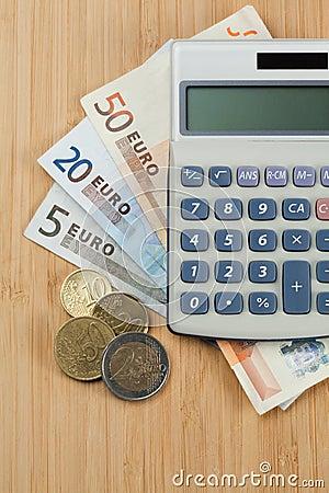 Free Money And Pocket Calculator Royalty Free Stock Photos - 19125138