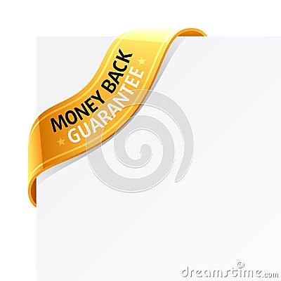 «Money back guarantee» sign
