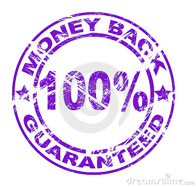 Money back stamp (vector)