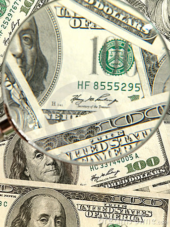 Money background from hundred bucks
