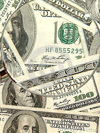 Money background from hundred bucks
