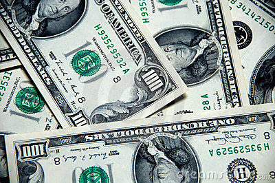 Money background of one hundred dollars