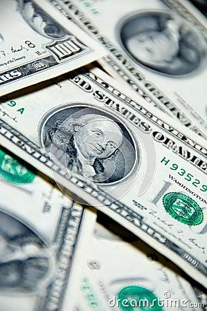 Money background of one hundred dollars