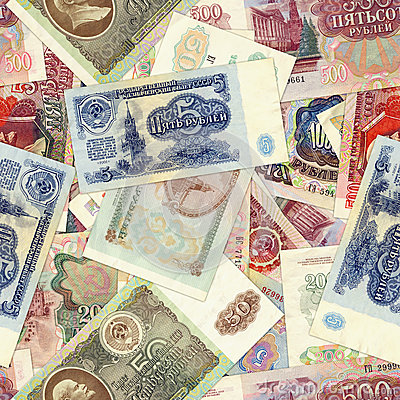 Money background - Soviet rubles
