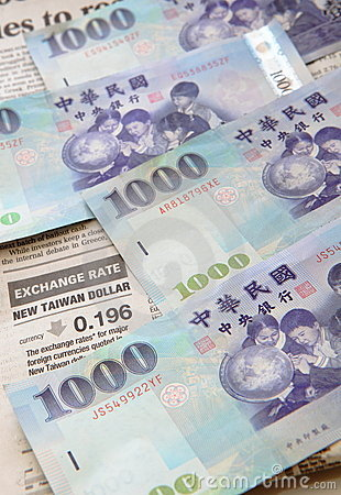 Money background (Taiwan currency )