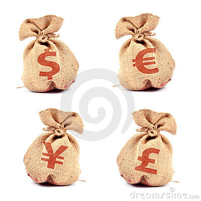 Free Money Bag Royalty Free Stock Photo - 10557895