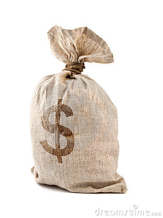 Free Money Bag Stock Photography - 10844592