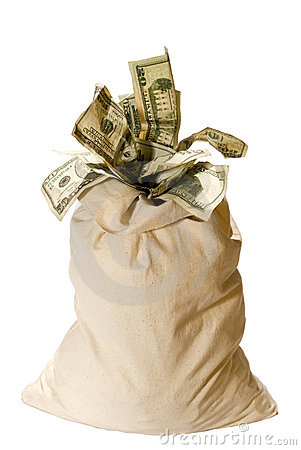 Free Money Bag! Stock Photos - 3412393