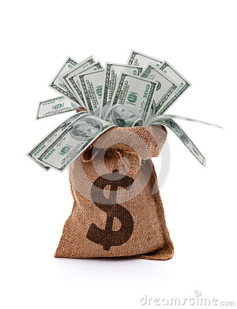 Free Money Bag Royalty Free Stock Photography - 36330177