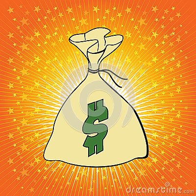 Money bag with dollar sign vector illustration.