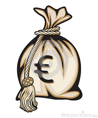 Money bag with euro sign