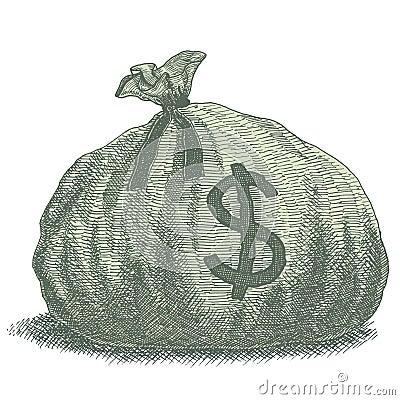 money bag illustration stock vector image 49933412