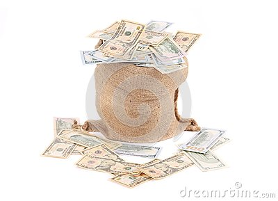Money in the bag.