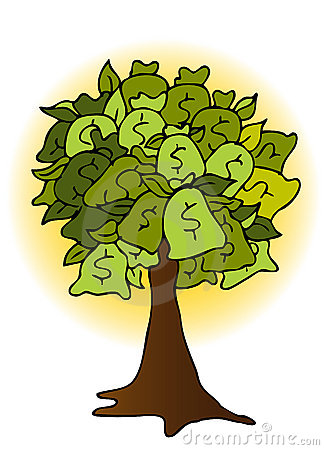 Money Bag Tree Drawing