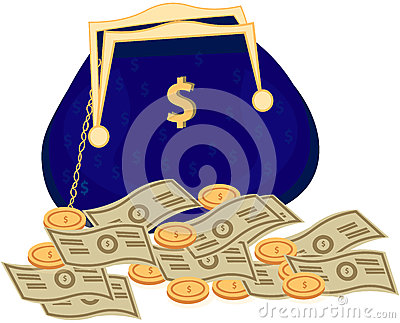 Money Bag vector icon with dollar sign Vector Illustration