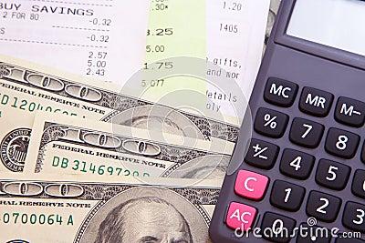 Money, Bills, & Calculator
