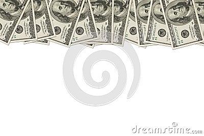 Money Border of hundred dollar bills
