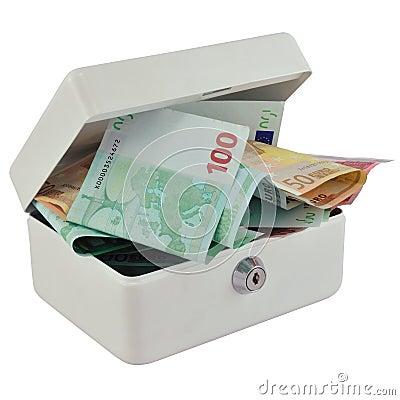 Money box and Euro
