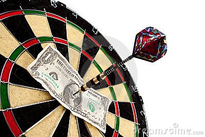 Money and bullseye