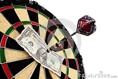 Money and bullseye