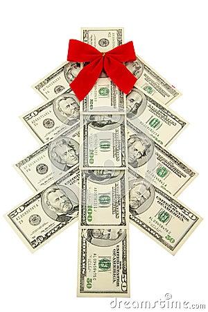Money Christmas tree