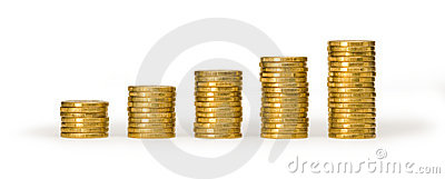 Money Coin Stacks Value