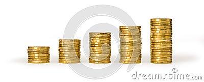 Money Coin Stacks Value