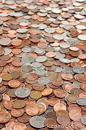 Money coins background