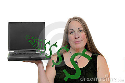 Money coming out of computer