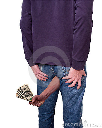 Free Money Coming Out Of Your Butt, Funny Royalty Free Stock Image - 17524816