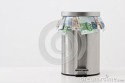 Money concept - throw money