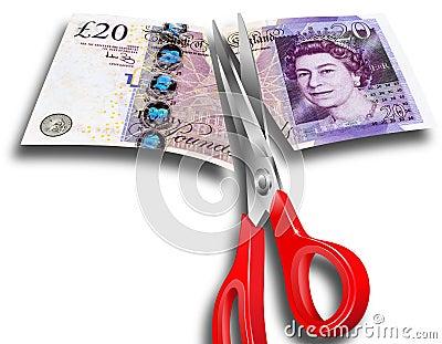 Money Cuts UK Editorial Stock Image