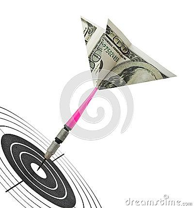 Free Money Darts And Target Stock Photos - 8130613