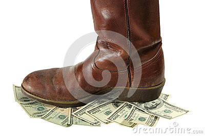 Money Devalued is Trod Under Foot
