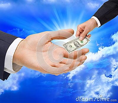 Money Dollar Gift Hand Taxes